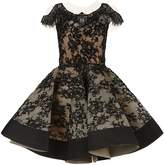Mikael D Beaded Lace Dress
