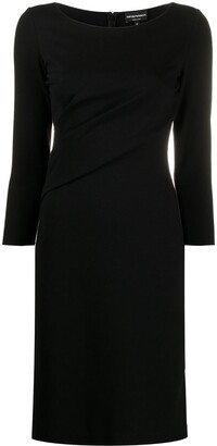 Emporio Armani Fitted Silhouette Dress