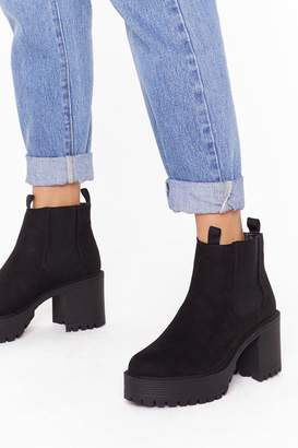 Nasty Gal Womens We Suede It Faux Suede Chelsea Boots - black - 3
