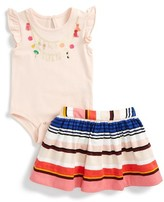 Kate Spade Infant Girl's How Charming Bodysuit & Skirt Set