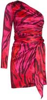Adriana Iglesias Candela One-Shoulder Stretch-Silk Dress