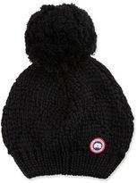 Canada Goose Oversized Wool Pompom Beanie Hat