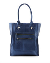 Cynthia Vincent Hitter Faux-Leather Tote Bag, Blue Matte
