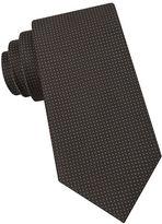 Black Brown 1826 Micro Dot Woven Silk Tie