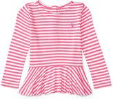 Ralph Lauren Striped Peplum Shirt, Baby Girls (0-24 months)