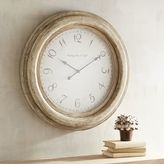 Pier 1 Imports Oversized Whitewashed Merville Wall Clock