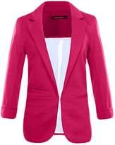 Legou Women 3/4 Sleeve Lapel Collar Slim Short Blazer M