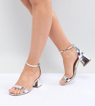 ASOS DESIGN Honeydew Wide Fit Block Heeled Sandals