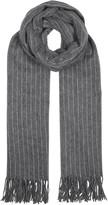 Rag & Bone Charcoal Pinstriped Wool Scarf