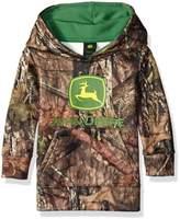 John Deere Little Boys' Toddler Mossy Oak Print Logo Fleece Hoodie