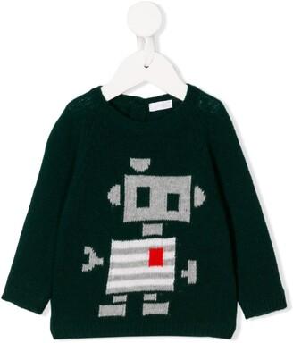 Il Gufo Robot Knit Jumper