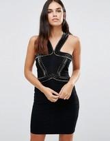 Forever Unique Vera Bandage Dress With Embelished Straps