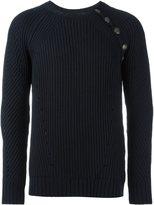 Pierre Balmain button detail ribbed sweater - men - Wool/Acrylic - 50