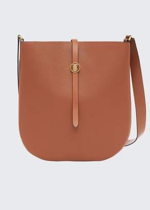 Burberry TB Grainy Leather Hobo Bag