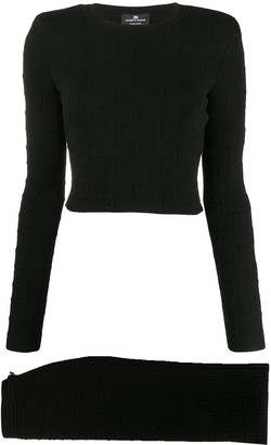 Elisabetta Franchi Knitted Top And Mid Skirt Set