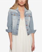 Jessica Simpson Pixie Railroad-Stripe Denim Jacket, Created for Macy's