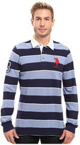 U.S. Polo Assn. Long Sleeve Rugby Striped Polo Shirt