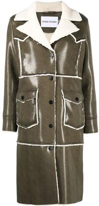 Stand Studio Adele faux leather coat