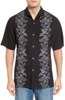 Tommy Bahama Men's Big & Tall Put A Leaf On It Embroidered Silk Camp Shirt
