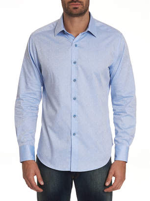 Robert Graham Men's Karen Patterned Sport Shirt with Contrast Detail
