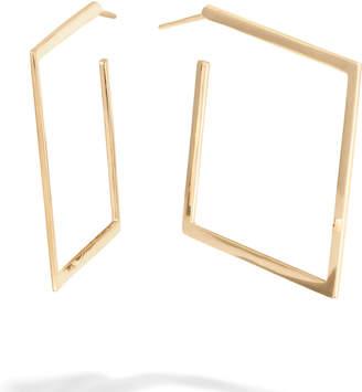 Lana 30mm Square Flat 14k Gold Hoop Earrings