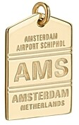 Jet Set Candy Ams Amsterdam Luggage Tag Charm