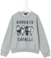 Roberto Cavalli wildcat print sweatshirt - kids - Cotton/Elastodiene - 4 yrs