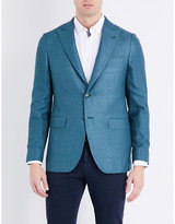 Boglioli Textured Regular-fit Silk And Cashmere-blend Jacket