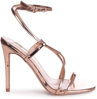 Linzi EFFIE - Rose Gold Chrome Strappy Stiletto Heel