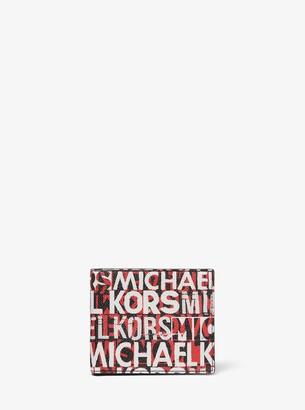 Michael Kors Greyson Graphic Logo Billfold Wallet