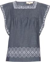 Vanessa Bruno Elba embroidered cotton top