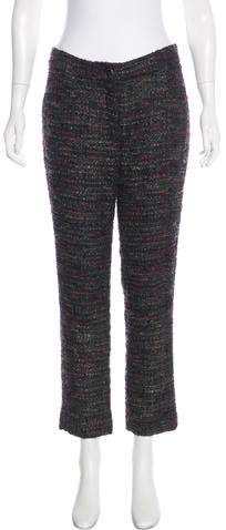 Chanel Mid-Rise Tweed Pants
