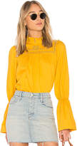 Free People Another Eternity Blouse in Mustard. - size L (also in M,S,XS)