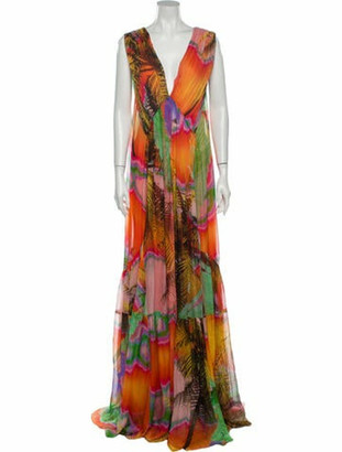 Matthew Williamson Silk Long Dress w/ Tags Orange
