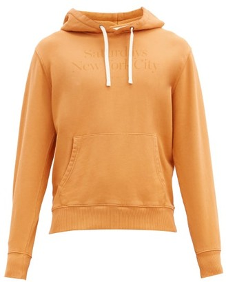 Saturdays NYC Ditch Miller Embroidered Cotton-jersey Sweatshirt - Orange