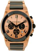 Rockwell Time CME-108 Men's Commander Elite Rose Gold Plated Stainless Steel with Black Ceramic Accents Watch