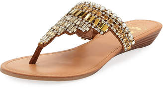 Vinton Embellished Leather Sandal