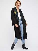 Free People Embroidered Slouchy Duster