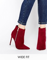 Asos ECUADOR Wide Fit Pointed High Ankle Boots