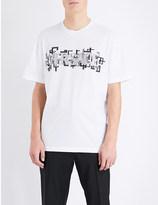 Versace Embroidered brand logo cotton-jersey t-shirt