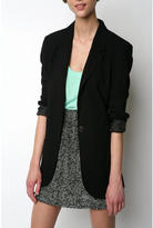 Black Long Party Blazer