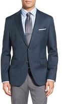 BOSS Men's 'Jewels' Trim Fit Herringbone Wool Sport Coat