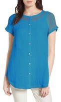 Eileen Fisher Women's Button Front Organic Linen Tunic