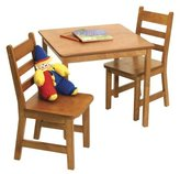 Lipper 514P Child's Square Table and 2-Chair Set