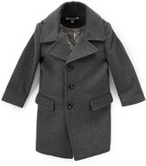 Isaac Mizrahi Charcoal Single-Breasted Peacoat - Toddler