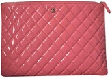 Chanel Cambon leather clutch bag