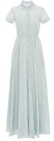 Luisa Beccaria Short Sleeve Maxi Dress