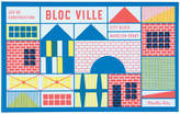 Moulin Roty Town Construction Block Game - 40 Pieces & 1 Poster