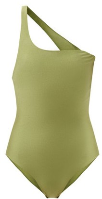 JADE SWIM Evolve One-shoulder Swimsuit - Green