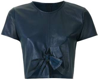 Andrea Bogosian leather cropped top